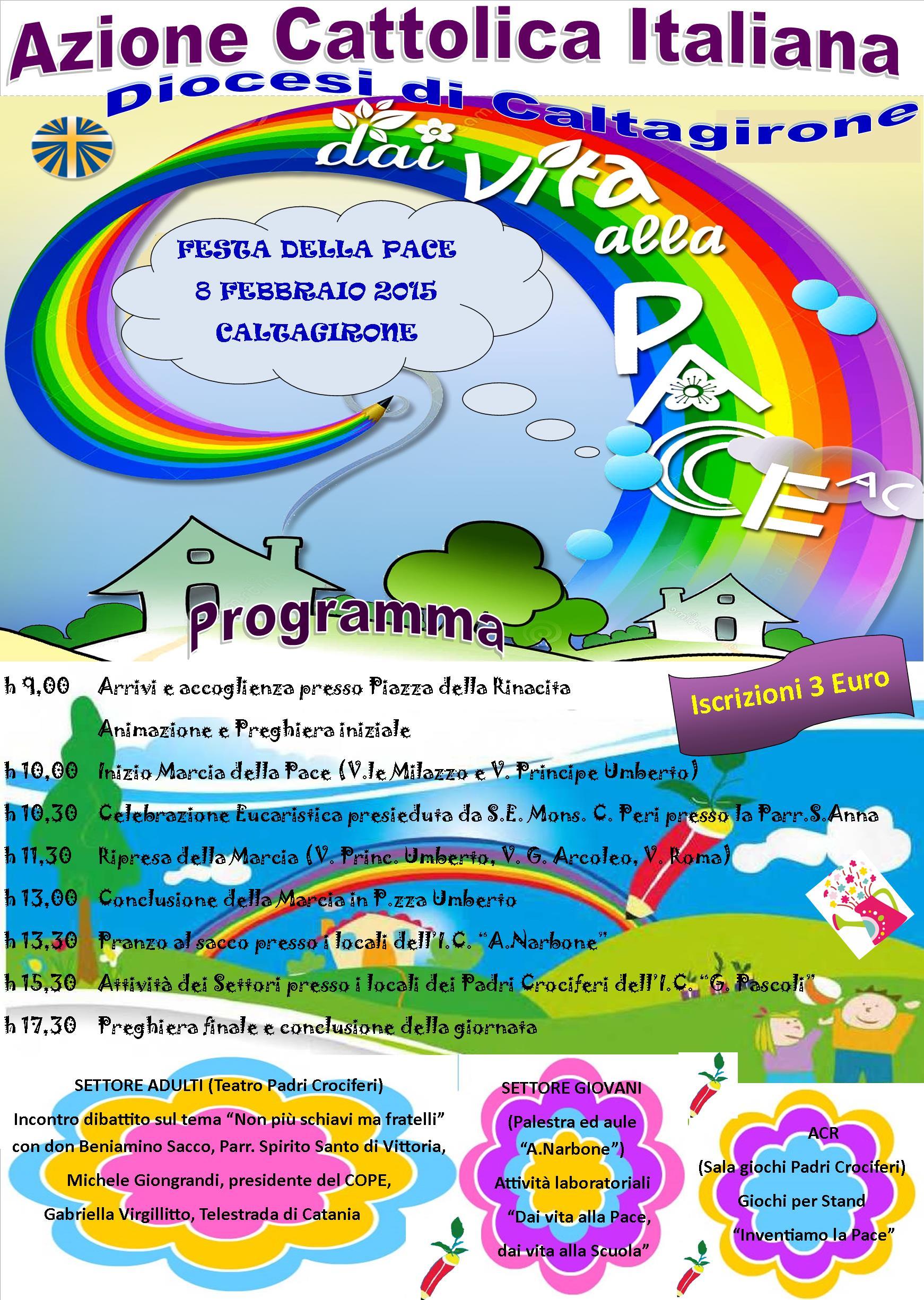 locandina festa della pace 8 febbraio 2015